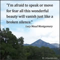 Lucy Maud Montgomery quote