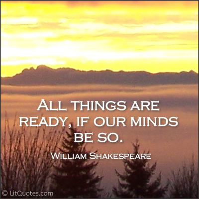all things are ready quote