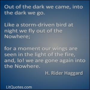 H. Rider Haggard Quote