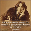 Quote About History by Oscar Wilde